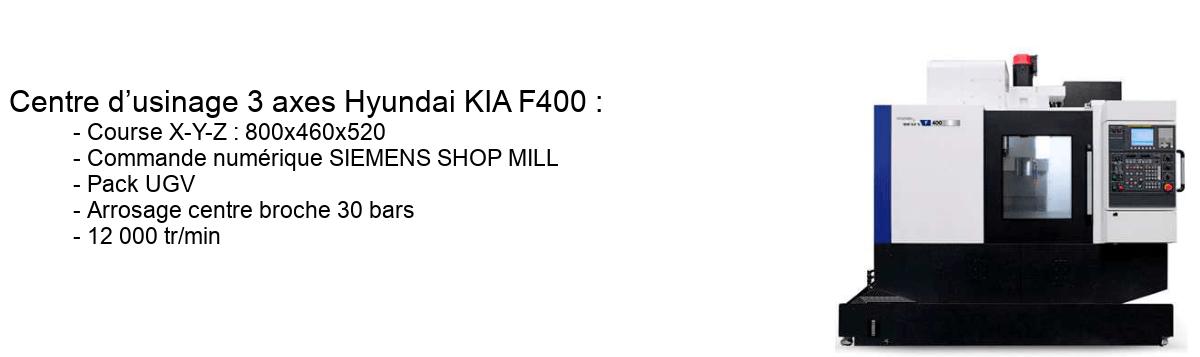 Centre d'usinage 3 axes Hyundai KIA F400