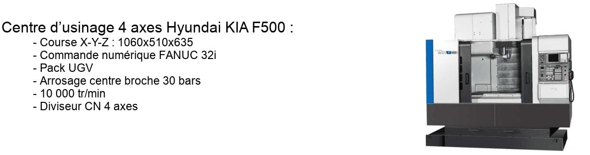 Centre d'usinage 4 axes Hyundai KIA F500